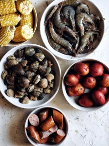ingredients for seafood boil