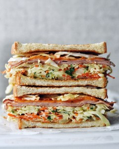 stacked korean street toast sandwich