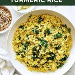 bowl of turmeric ric