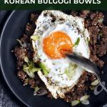 bowl of ground beef bulgogi