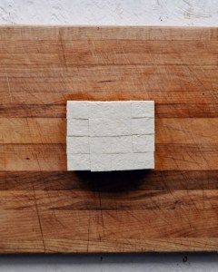 firm tofu block cut into squares
