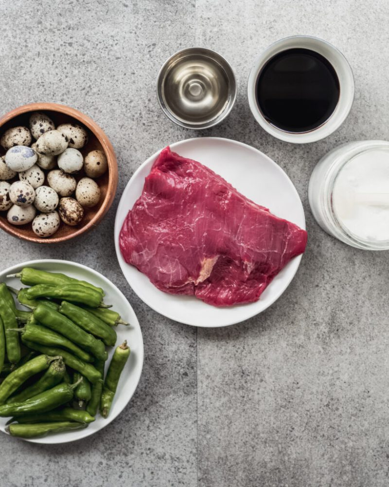 ingredients for Korean Jangjorim