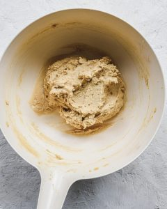 creamed butter in bowl