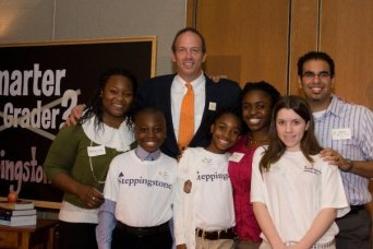 2009 - Mike celebrates with Scholars and Alumni at Steppingstone's Gala