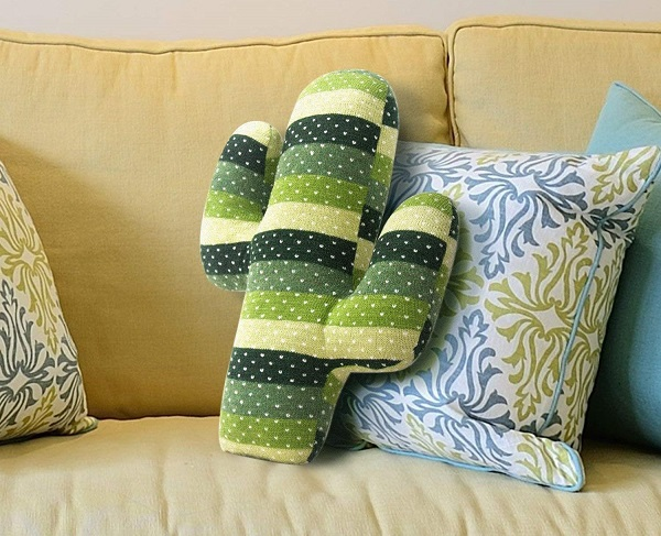 cactus shaped pillow for a succulent gift
