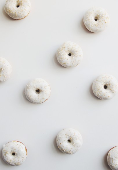 carrot cake baked donuts via the faux martha
