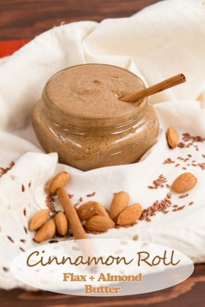 cinnamon roll flax almond butter via healthful pursuit