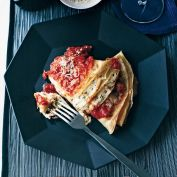 crespelle with ricotta and marina
