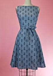 hoh_monique dress chambray anchor blue