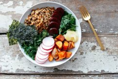 brown rice miso macro bowl via nutrition stripped