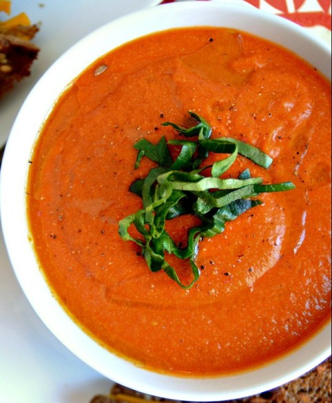 dreamy vegan tomato soup via blissful basil