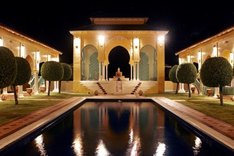 the body holiday st lucia_pool at night via the body holiday st lucia