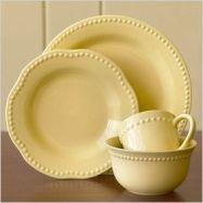pastel yellow dishes via SheKnows