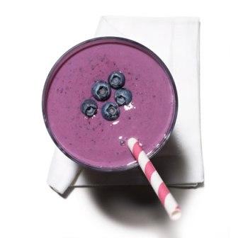 blueberry tofu smoothie via health.com