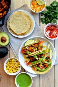 crispy tofu tacos via the woks of life