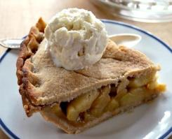 gluten free double crust apple pie via pamela's products