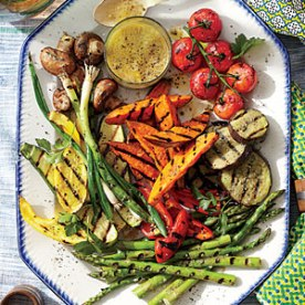 grilled vegetable platter via southern living