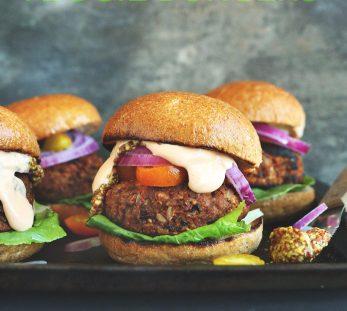 grillable veggie burgers via minimalist baker