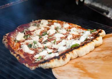 grilled pizza via simply recipes