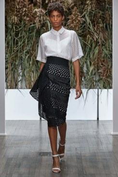 kimora-lee-simmons-white blouse-black skirt-spring2017-rtw-look21-via-vogue-runway