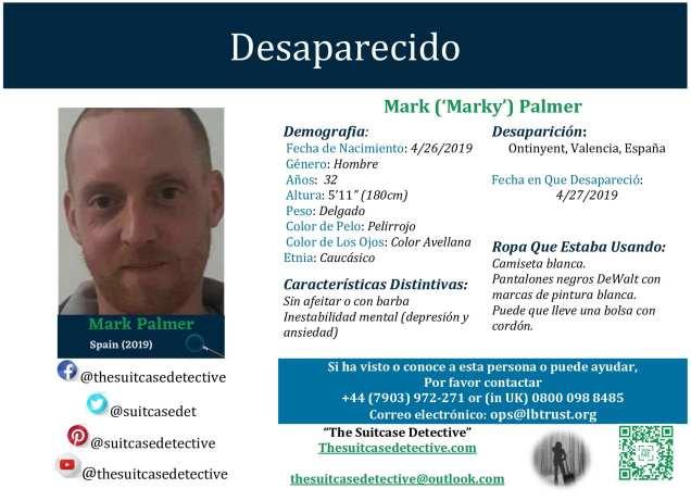 Missing Poster for Mark Palmer in Spanish