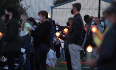 Candlelight vigil for Madison Sparrow