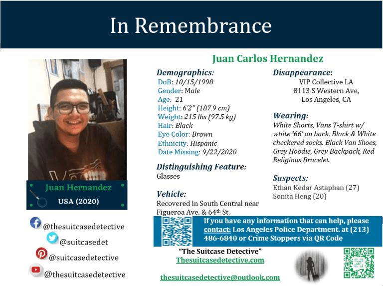 Missing Person poster of JUAN CARLOS HERNÁNDEZ