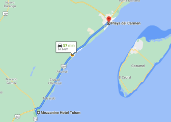 Trip from Mezzanine Hotel to Playa del Carmen