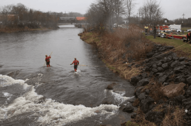 Police search the Salmon River
