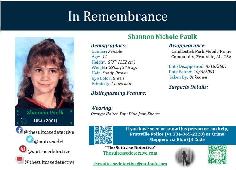 Missing Person photo for Shannon Paulk