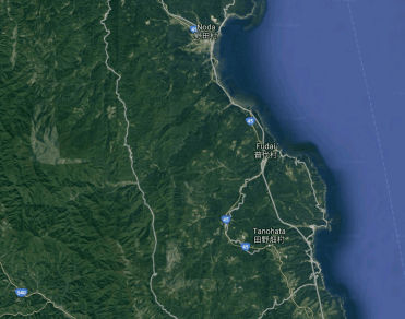 Map of the surrounding area in Iwate province