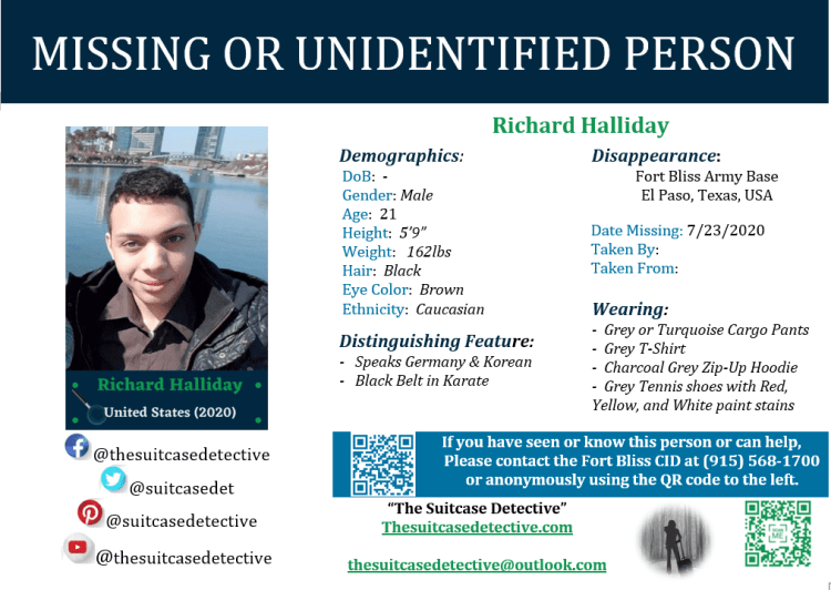 Richard Halliday Missing Person Poster
