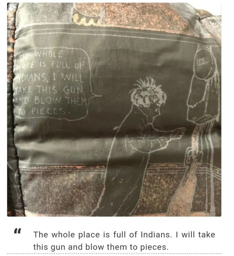 """JBNY Children's Clothing Line: """"The whole place is full of Indians. I will take this gun and blow them to pieces"""""""