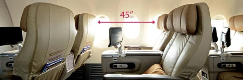 btik air seat pitch business