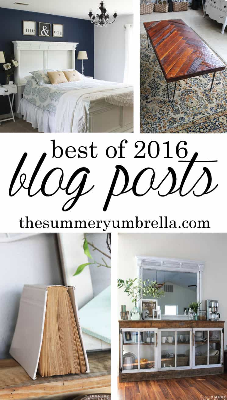 This has been a great year, and I couldn't have done it all without you! For instance, these beauties are my Best Blog Posts of 2016 selected by YOU!