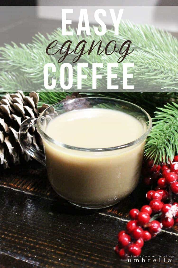 During this time of the year I'm not only a coffee junkie, but I kind of turn into an eggnog-in-my-coffee-fanatic as well. Anybody else?