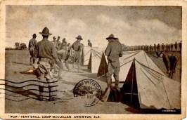 C1 WW1 CARD 9A SENT FROM CAMP McCLELLAN 01-17-1918