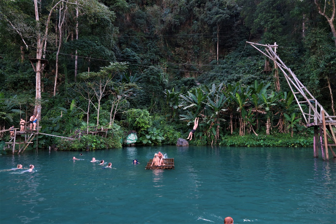 Vang Vieng Blue Lagoon 3 What $40 per day can get you in Laos