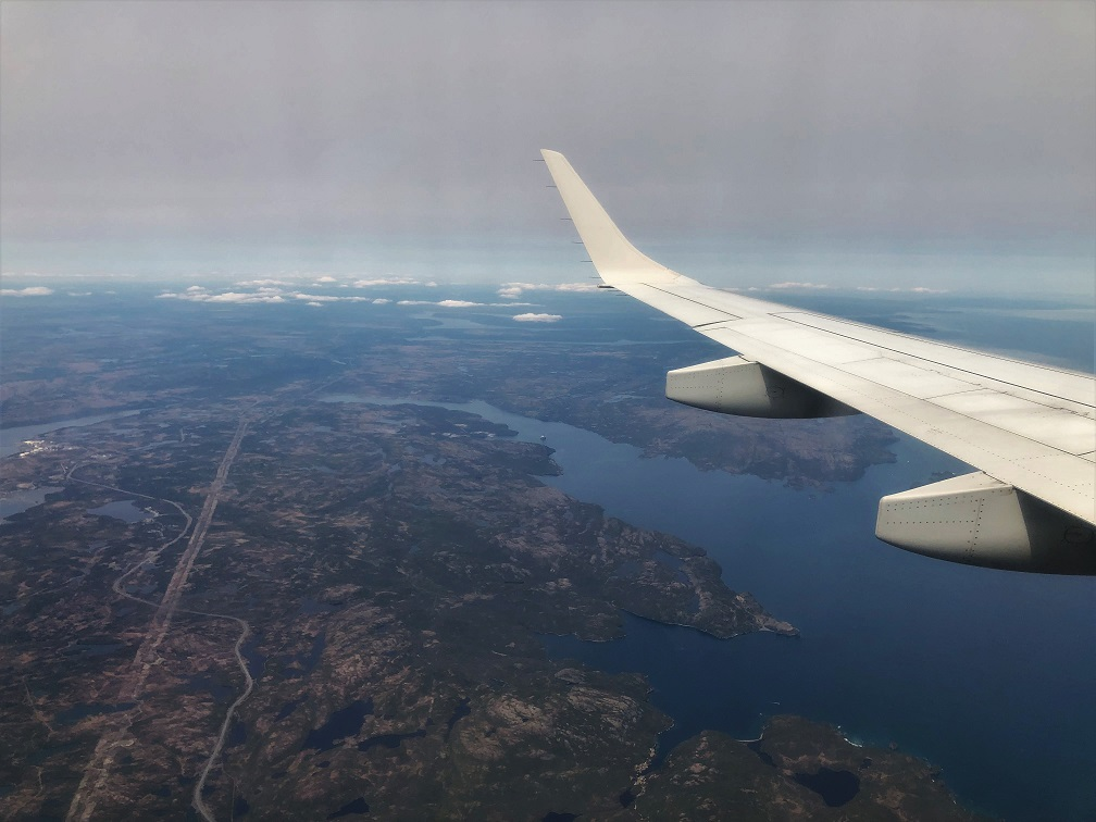Air-Canada-flight-from-Toronto-to-St.-Johns-Budget-Breakdown-An-Atlantic-Canada-Road-Trip