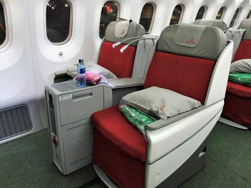 Seat Review Ethiopian Airlines Business Class Addis Ababa to Tokyo