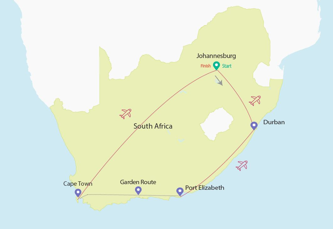 Budget-Breakdown-The-Cost-of-Solo-Travel-in-South-Africa-Map