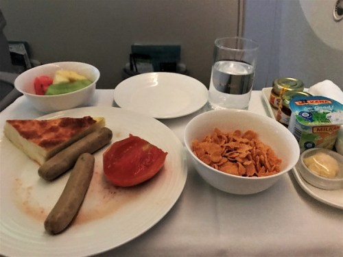 Breakfast Review Ethiopian Airlines Business Class Addis Ababa to Tokyo