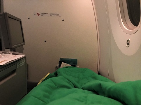 Sleeping Review Ethiopian Airlines Business Class Addis Ababa to Tokyo