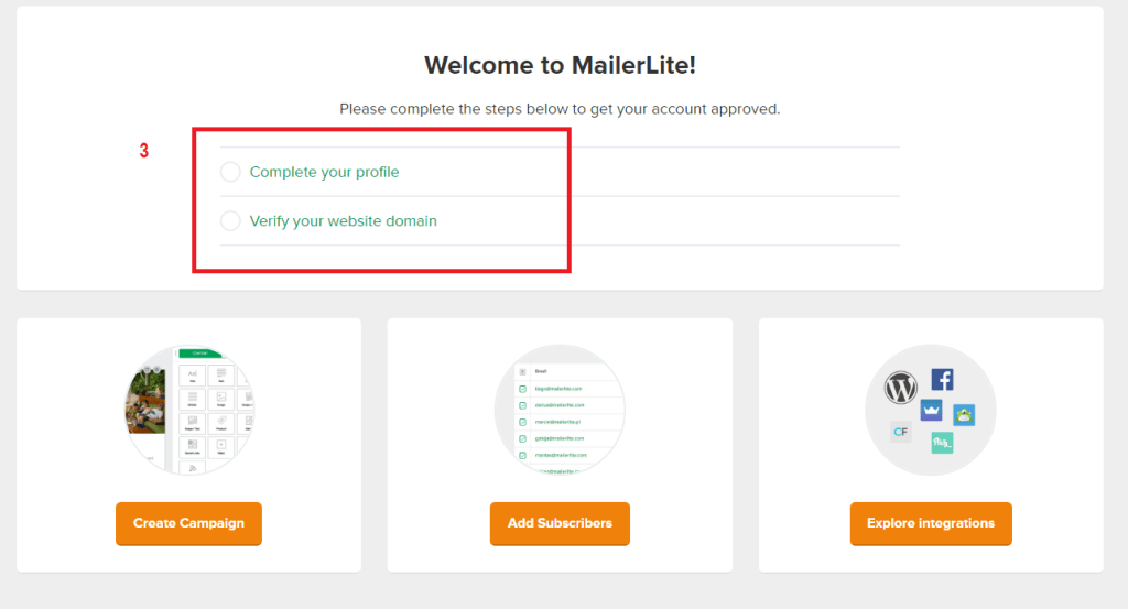 MailerLite email list tutorial screenshot