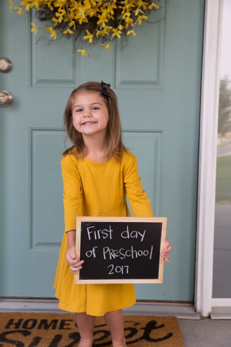 Evelyn first day of preschool-2