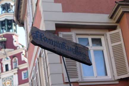 A signboard for Flamkuchen