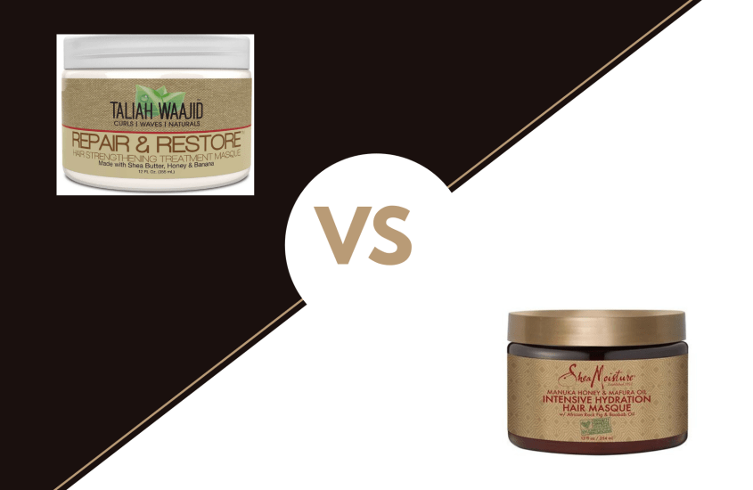 Taliah Waajid Repair and Restore Hair Strengthening Masque vs Shea Moisture Manuka Honey Hydration Masque