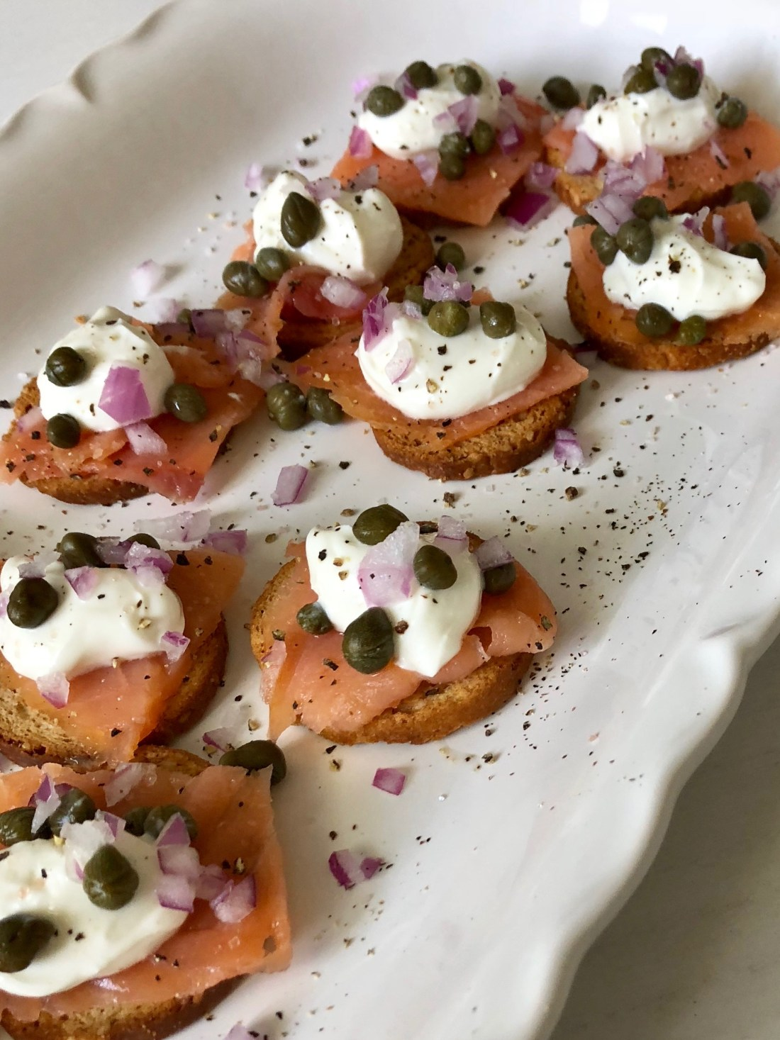Smokes Salmon appetizer recipe