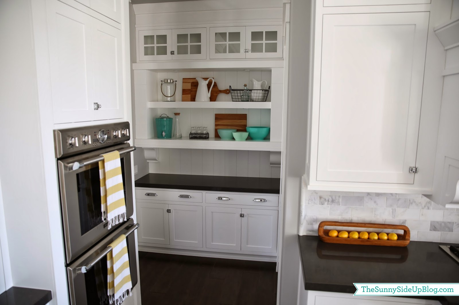 Butler's Pantry Shelves (decorated!)
