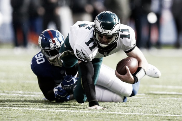 Giants fail to earn playoff bid in loss to Eagles, as Cowboys clinch No. 1 seed and NFC East